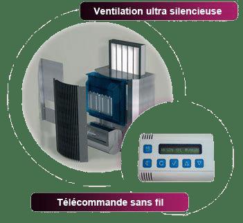 Ventilation positive hygroréglable saumur
