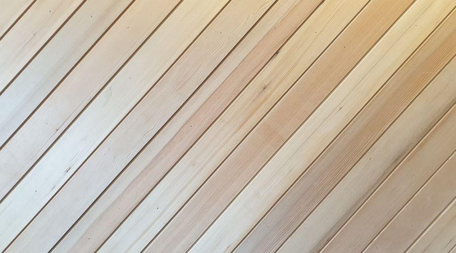Bardage bois à lamelles horizontales